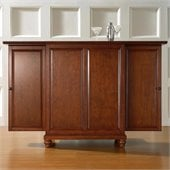 Crosley Furniture Cambridge Expandable Bar Cabinet in Classic Cherry Finish