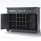 Crosley Furniture Alexandria Buffet Server / Sideboard Cabinet in Black Finish