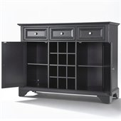 Crosley Furniture LaFayette Buffet Server / Sideboard Cabinet in Black Finish