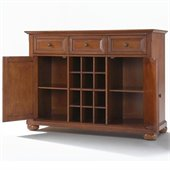 Crosley Furniture Alexandria Buffet Server / Sideboard Cabinet in Classic Cherry