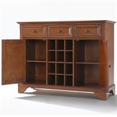 Crosley Furniture LaFayette Buffet Server / Sideboard Cabinet in Classic Cherry