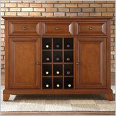 Crosley Furniture Newport Buffet Server / Sideboard Cabinet in Classic Cherry