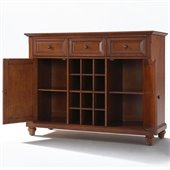 Crosley Furniture Cambridge Buffet Server / Sideboard Cabinet in Classic Cherry