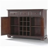 Crosley Furniture Alexandria Buffet Server / Sideboard Cabinet in Vintage Mahogany