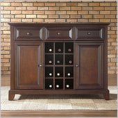 Crosley Furniture Newport Buffet Server / Sideboard Cabinet in Vintage Mahogany