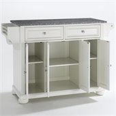 Crosley Furniture Alexandria Solid Granite Top Kitchen Island in White Finish