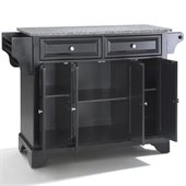 Crosley Furniture LaFayette Solid Granite Top Kitchen Island in Black Finish