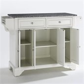 Crosley Furniture LaFayette Solid Granite Top Kitchen Island in White Finish