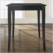 Crosley Furniture Cabriole Leg Pub/Dining Table in Black Finish