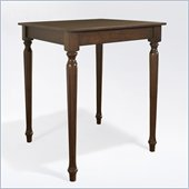 Crosley Furniture Turned Leg Pub Table in Vintage Mahogany Finish