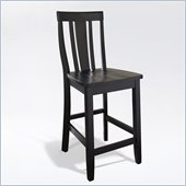 Crosley Furniture Counter Height Shield Back Bar Stool in Black Finish