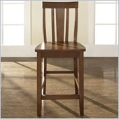 Crosley Furniture Counter Height Shield Back Bar Stool in Classic Cherry Finish