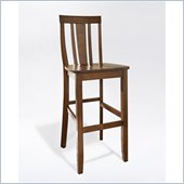 Crosley Furniture Bar Height Shield Back Bar Stool in Classic Cherry Finish