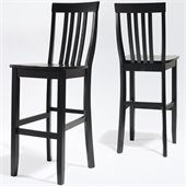 Crosley Furniture Bar Height School House Bar Stool in Black Finish