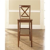 Crosley Furniture Bar Height X-Back Bar Stool in Classic Cherry Finish