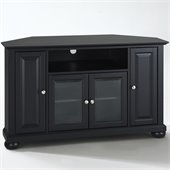 Crosley Furniture Alexandria 48 Corner TV Stand in Black Finish