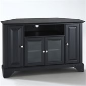 Crosley Furniture LaFayette 48 Corner TV Stand in Black Finish