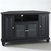 Crosley Furniture Cambridge 48 Corner TV Stand in Black Finish