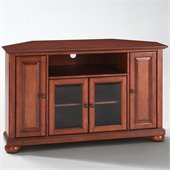 Crosley Furniture Alexandria 48 Corner TV Stand in Classic Cherry