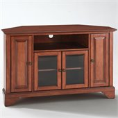 Crosley Furniture LaFayette 48 Corner TV Stand in Classic Cherry