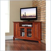 Crosley Furniture Newport 48 Corner TV Stand in Classic Cherry Finish
