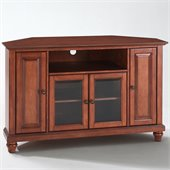 Crosley Furniture Cambridge 48 Corner TV Stand in Classic Cherry