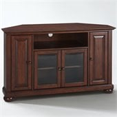 Crosley Furniture Alexandria 48 Corner TV Stand in Vintage Mahogany