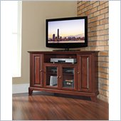 Crosley Furniture Newport 48 Corner TV Stand in Vintage Mahogany