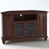 Crosley Furniture Cambridge 48 Corner TV Stand in Vintage Mahogany