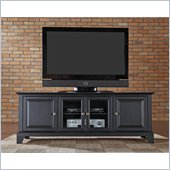 Crosley Furniture Newport 60 Low Profile TV Stand in Black Finish