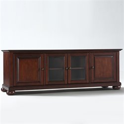 Crosley Furniture Alexandria 60 Low Profile TV Stand in Vintage Mahogany