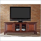 Crosley Furniture Newport 60 Low Profile TV Stand in Vintage Mahogany