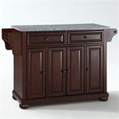 Crosley Furniture Alexandria Solid Granite Top Mahogany Kitchen Island