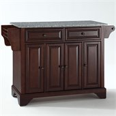 Crosley Furniture LaFayette Solid Granite Top Mahogany Kitchen Island