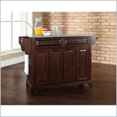 Crosley Furniture Newport Solid Granite Top Mahogany Kitchen Island
