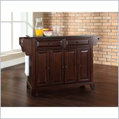 Crosley Furniture Newport Black Granite Top Mahogany Kitchen Island