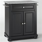Crosley Furniture Alexandria Solid Granite Top Kitchen Island in Black