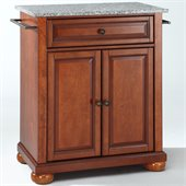 Crosley Furniture Alexandria Solid Granite Top Cherry Kitchen Island