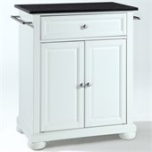 Crosley Furniture Alexandria Black Granite Top Kitchen Island in White