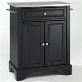 Crosley Furniture LaFayette Stainless Steel Top Black Kitchen Island