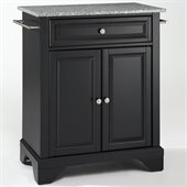 Crosley Furniture LaFayette Solid Granite Top Kitchen Island in Black