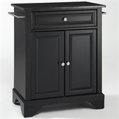 Crosley Furniture LaFayette Solid Black Granite Top Kitchen Island
