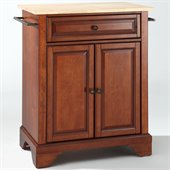 Crosley Furniture LaFayette Natural Wood Top Kitchen Island in Cherry