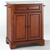 Crosley Furniture LaFayette Stainless Steel Top Cherry Kitchen Island