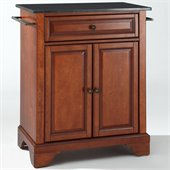 Crosley Furniture LaFayette Black Granite Top Kitchen Island in Cherry
