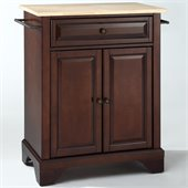 Crosley Furniture LaFayette Natural Wood Top Mahogany Kitchen Island