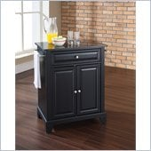 Crosley Furniture Newport Solid Black Granite Top Kitchen Island
