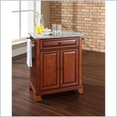 Crosley Furniture Newport Solid Granite Top Kitchen Island in Cherry