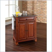Crosley Furniture Newport Black Granite Top Kitchen Island in Cherry