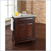 Crosley Furniture Newport Solid Granite Top Kitchen Island in Mahogany